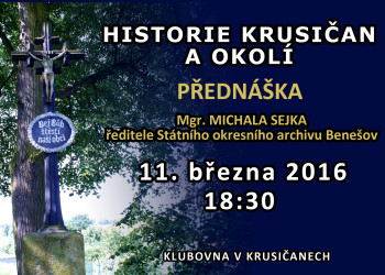 Historie Krusičan - plakát