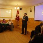 Mgr.Michal Sejk , ředitel státního archivu Benešov zahájil přednášku o lidech žijících v letech 1.sv. války se zaměřením Krusičany